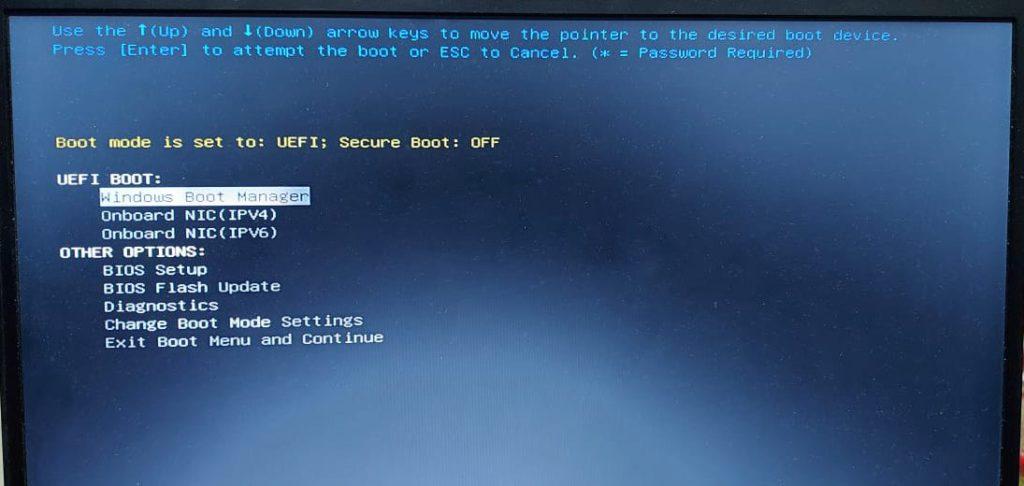 Blue Screen Of Death :UEFI