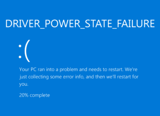 driver power state failure windows 10